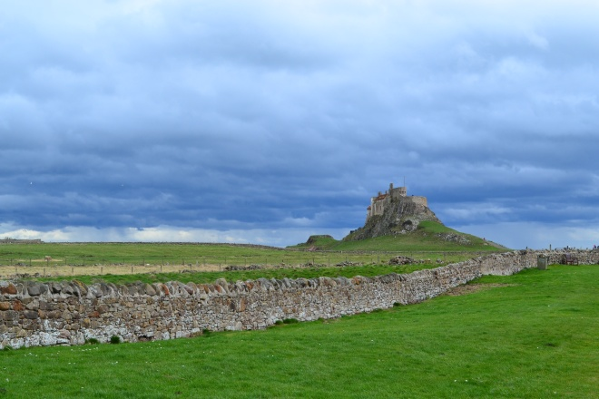 Heavy Skies over Lindisfarne Castle