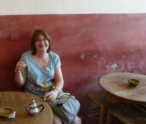 Tea in a Marrakech cafe